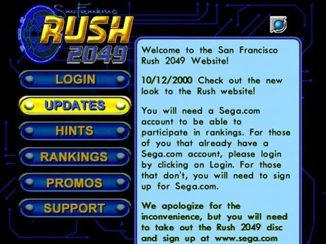 San Francisco Rush 2049 Website & Rankings Restored!
